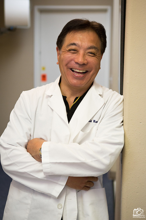 Dr. Gerald S. Watanabe of Capitol Square Dental Care poses for a portrait at Capitol Square Dental Care in San Jose, California, on April 4, 2013. (Stan Olszewski/SOSKIphoto)