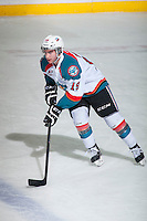 KELOWNA, CANADA - FEBRUARY 9: Dillon Dube #19 of Kelowna Rockets warms up against the Prince George Cougars on February 9, 2015 at Prospera Place in Kelowna, British Columbia, Canada.  (Photo by Marissa Baecker/Shoot the Breeze)  *** Local Caption *** Dillon Dube;