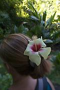 Hibicus flower in hair<br />