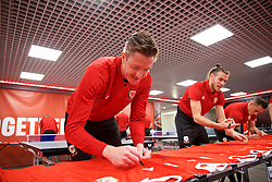 CARDIFF, WALES - Tuesday, September 4, 2018: Wales' goalkeeper Wayne Hennessey during a signing session at the Vale Resort ahead of the UEFA Nations League Group Stage League B Group 4 match between Wales and Republic of Ireland. (Pic by David Rawcliffe/Propaganda)