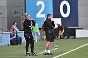 Yeovil Town Manager, Jamie Sherwood  during the FA Women's Super League Spring Series match between Manchester City Women and Yeovil Town Ladies FC at the Sport City Academy Stadium, Manchester, United Kingdom on 21 May 2017. Photo by Mark Pollitt.