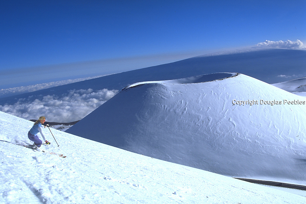 Skiing, Mauna Kea, Island of Hawaii, Hawaii, USA<br />