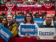 02 MARCH 2020 - ST. PAUL, MINNESOTA: at at a Bernie Sanders Get Out the Vote rally in the RiverCentre in St. Paul. More than 8,400 people attended the rally. Minnesota is a Super Tuesday state this year and Minnesotans will go to the polls Tuesday. Minnesota Sen. Amy Klobuchar was expected to win her home state, but she dropped out early Monday.         PHOTO BY JACK KURTZ