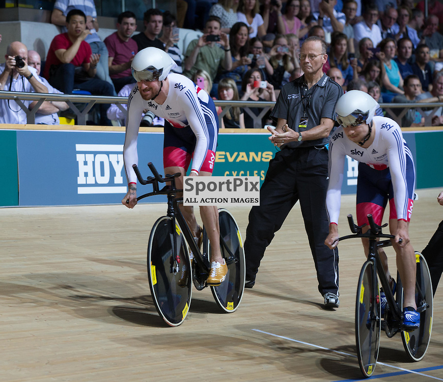 Bradley Wiggins at the start of the GB Men's Team Pursuit race at the Revoultion Series 2015/6 Round 1 Derby, Day 1, on 14 August 2015 ( (Photo by Mike Poole - Photopoole)