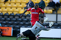 Photo: Pete Lorence.<br />Notts County v Swindon Town. Coca Cola League 2. 23/09/2006.<br />Fola Onibuje sends the ball past the keeper to score.