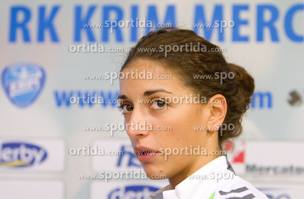 Player Andrea Penezic during press conference of handball team RK Krim Mercator before new season 2010-2011, on September 29, 2010 in M-Hotel, Ljubljana, Slovenia. (Photo By Vid Ponikvar / Sportida.com)