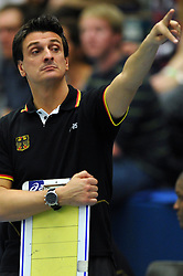 09.10.2010, Halle Berg Fidel, Muenster, GER, Vorbereitung Volleyball WM Frauen 2010, Laenderspiel Deutschland ( GER ) vs. Tuerkei ( TUR ), im Bild Giovanni Guidetti (Headcoach GER). EXPA Pictures © 2010, PhotoCredit: EXPA/ nph/   Conny Kurth+++++ ATTENTION - OUT OF GER +++++