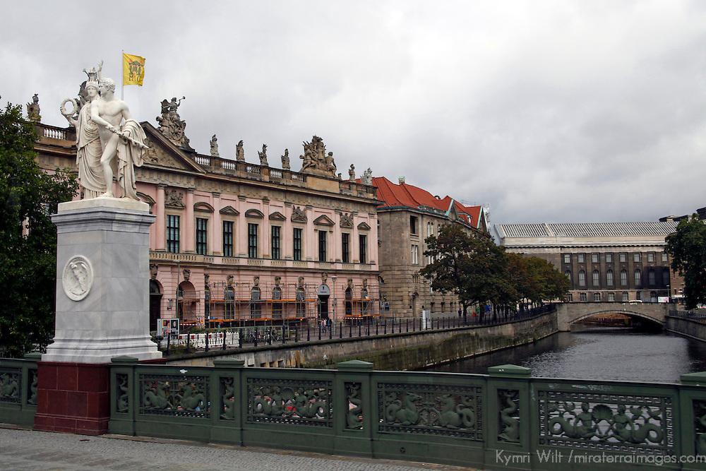 Europe, Germany, Berlin. Bridge and architecture of Berlin.