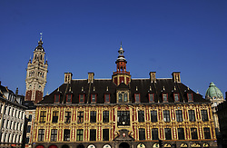 LILLE , FRANCE - FEB-22-2003 - Lille , France has been named the 2004 European Capital of Culture. - ïVieille bourse' - former stock exchange - 17th Century - Traditional - Historic buildings. (PHOTO © JOCK FISTICK)..