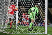 Hayden Hackney of Middlesbrough (62) scores a goal during the EFL Trophy group stage match between Burton Albion and U21 Middlesbrough at the Pirelli Stadium, Burton upon Trent, England on 7 November 2018.