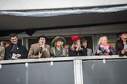 TOM PARKER BOWLES;  THE DUCHESS OF CORNWALL; LAURA PARKER BOWLES, ( LAURA LOPES ) , The Cheltenham Festival Ladies Day. Cheltenham Spa. 11 March 2015