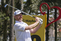February 3, 2018 - Shah Alam, Kuala Lumpur, Malaysia - Stephen Gallacher is seen taking a shot from hole no 12 on day 3 at the Maybank Championship 2018...The Maybank Championship 2018 golf event is being hosted on 1st to 4th February at Saujana Golf & Country Club. (Credit Image: © Faris Hadziq/SOPA via ZUMA Wire)