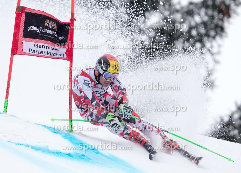 01.03.2015, Kandahar, Garmisch Partenkirchen, GER, FIS Weltcup Ski Alpin, Riesenslalom, Herren, 1. Lauf, im Bild Marcel Hirscher (AUT) // Marcel Hirscher of Austria in action during 1st run for the men's Giant Slalom of the FIS Ski Alpine World Cup at the Kandahar course, Garmisch Partenkirchen, Germany on 2015/03/01. EXPA Pictures © 2015, PhotoCredit: EXPA/ Johann Groder