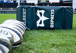 A general view of Rodney Parade, home of Dragons Ospreys tackle bag<br /> <br /> Photographer Simon King/Replay Images<br /> <br /> Guinness PRO14 Round 12 - Dragons v Ospreys - Sunday 30th December 2018 - Rodney Parade - Newport<br /> <br /> World Copyright © Replay Images . All rights reserved. info@replayimages.co.uk - http://replayimages.co.uk