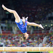 Gymnastics - Olympics: Day 2   Amy Tinkler #342 of Great Britain in action on the Women's Balance Beam during the Artistic Gymnastics Women's Qualification round at the Rio Olympic Arena on August 7, 2016 in Rio de Janeiro, Brazil. (Photo by Tim Clayton/Corbis via Getty Images)