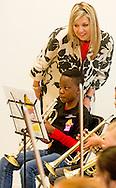 25-5-2016 - DEN BOSCH - Queen Maxima displays on Wednesday May 25 at primary Kruisboelijn in 's-Hertogenbosch, launched the action &quot;Classic Shows&quot; NPO Radio 4. This action raises NPO Radio 4 Money and musical instruments for rural Instrument Depot Leerorkest. The instrument deposit lends instruments to learn from orchestras and other initiatives for children of primary school age. The aim of the classical public radio station is to allow this action music education for as many children and many children as possible in the Netherlands to offer the opportunity to learn to play a musical instrument. COPYRIGHT ROBIN UTRECHT<br /> 25-5-2016 - DEN BOSCH - Koningin Maxima geeft op woensdagochtend 25 mei op basisschool Kruisboelijn in 's-Hertogenbosch het startsein van de actie &quot;Klassiek Geeft&quot; van NPO Radio 4. Met deze actie zamelt NPO Radio 4 geld en muziekinstrumenten in voor het landelijke Instrumentendepot Leerorkest. Het instrumentendepot leent muziekinstrumenten uit aan leerorkesten en andere initiatieven voor kinderen in de basisschoolleeftijd. Doel van de publieke klassieke radiozender is om met deze actie muziekonderwijs voor zoveel mogelijk kinderen mogelijk te maken en zoveel mogelijk kinderen in Nederland de kans te bieden een muziekinstrument te leren bespelen. COPYRIGHT ROBIN UTRECHT