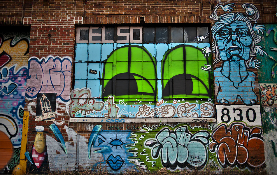 Some of the old artwork on the side of the Artkraft Strauss building on 59th and the West side Highway. The building has been torn down, but the images remain.