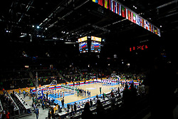 Arena during basketball game between National basketball teams of Slovenia and Serbia in 7th place game of FIBA Europe Eurobasket Lithuania 2011, on September 17, 2011, in Arena Zalgirio, Kaunas, Lithuania. Slovenia defeated Serbia 72 - 68 and placed 7th. (Photo by Vid Ponikvar / Sportida)