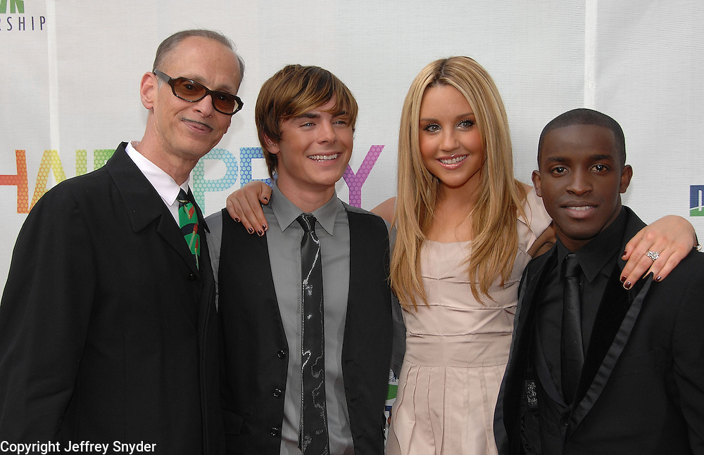 John Waters, Zac Efron Amanda Bynesand Elijah Kelly attend the Baltimore Premiiere of the new movie Hairspray