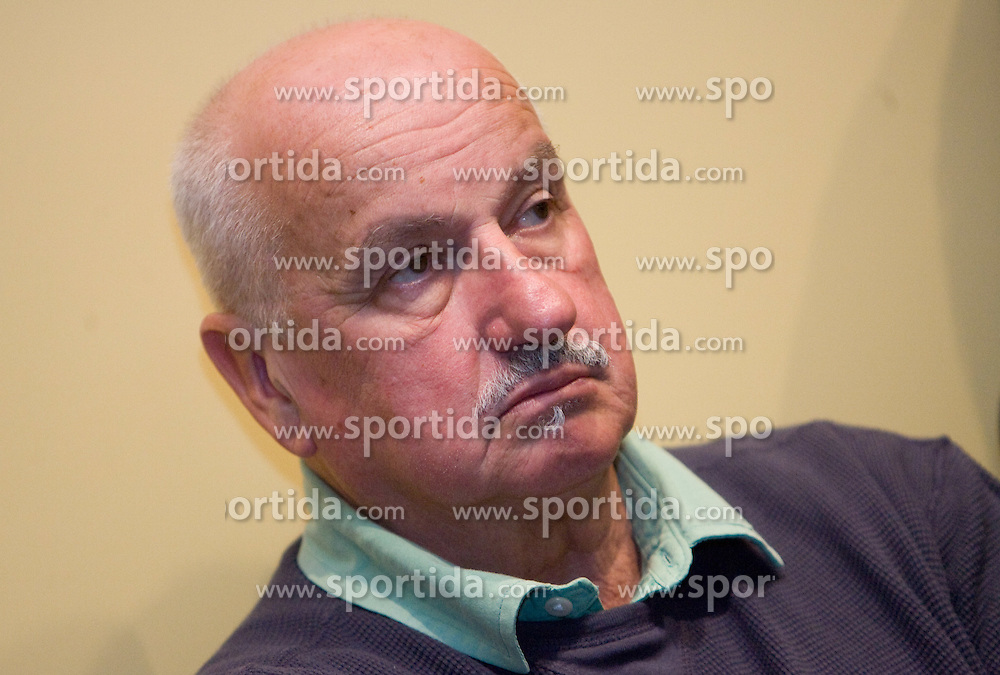 "Aleksander Lucu at presentation of a new book of one of the best Slovenian gymnast Miro Cerar named ""Miroslav Cerar in njegov cas - Miroslav Cerar and his time"" at his 70 years anniversary, on October 30, 2009, in Hotel Mons, Ljubljana, Slovenia.   (Photo by Vid Ponikvar / Sportida)"