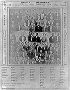 Photomontage of radical members of the first South Carolina legislature after the American Civil War. Each member is  identified.