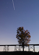 Salisbury Mills - The International Space Station streaks across the sky overthe Moodna Viaduct railroad trestle on Oct. 8, 2014.