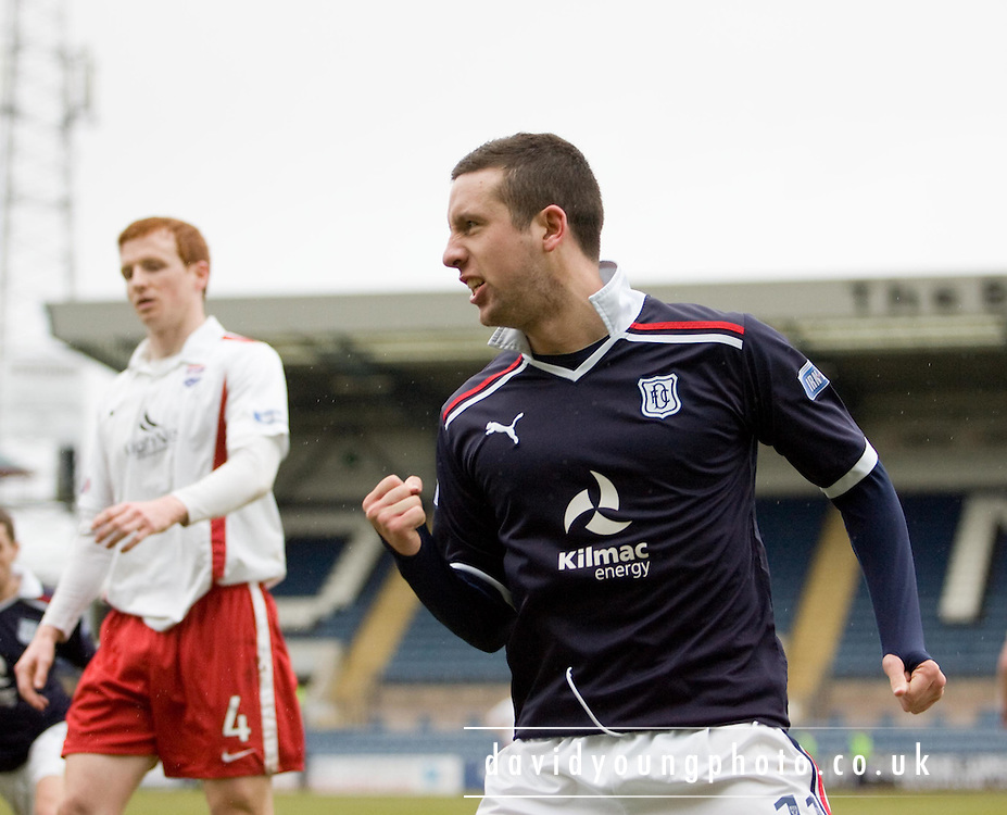 Ryan Conroy celebrates his goal - Dundee v Ross County, IRN BRU Scottish Football League First Division at Dens Park..© David Young - .5 Foundry Place - .Monifieth - .Angus - .DD5 4BB - .Tel: 07765 252616 - .email: davidyoungphoto@gmail.com.web: www.davidyoungphoto.co.uk