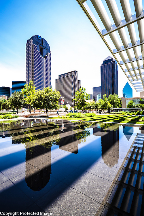 Dallas Arts District, as seen from the reflecting pool @ Winspear Opera House