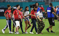 Manchester United played host to survivors from the shooting at Marjory Stoneman Douglas High School during the International Champions Cup against Real Madrid at Hard Rock Stadium in Miami Gardens, FL, USA on Tuesday, July 31, 2018. Manchester United won, 2-1. Photo by Jim Rassol/Sun Sentinel/TNS/ABACAPRESS.COM