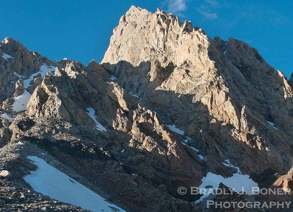 The Grand Teton viewed from near Exum Guide Hut on Lower Saddle.