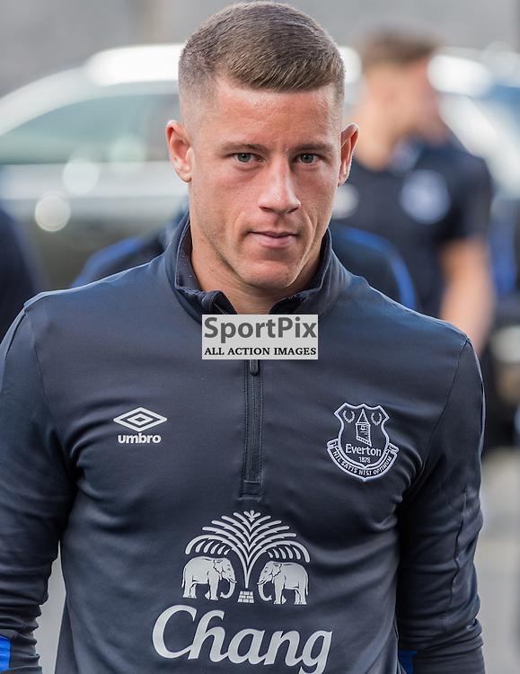 Everton midfielder Ross Barkley (8) arrives at Turf Moor for the Premier League match between Burnley and Everton<br /> <br /> (c) John Baguley | SportPix.org.uk