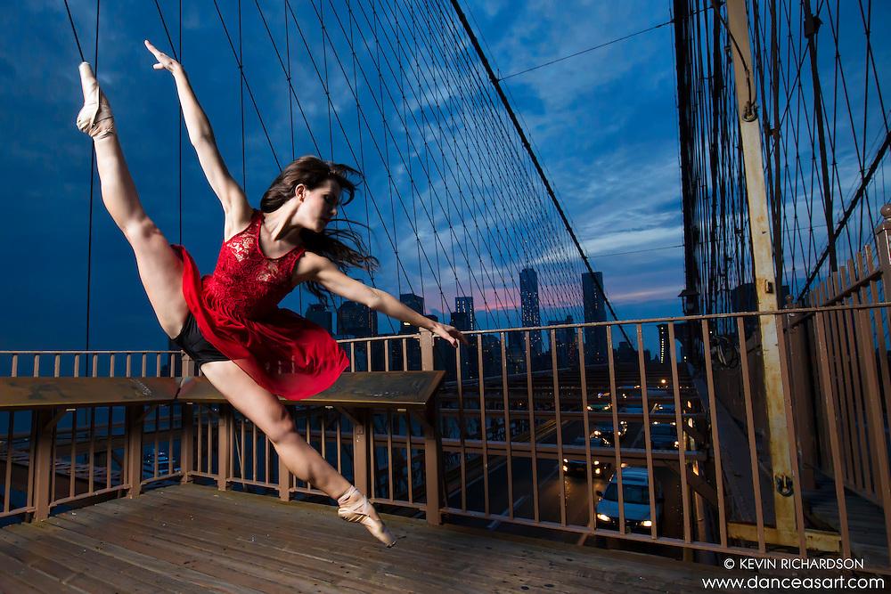 Dance As Art Brooklyn Bridge New York City Photography featuring ballerina Lindsey Horrigan