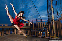 Dance As Art Brooklyn Bridge New York City Photography featuring ballerina Lindsey Horrigan
