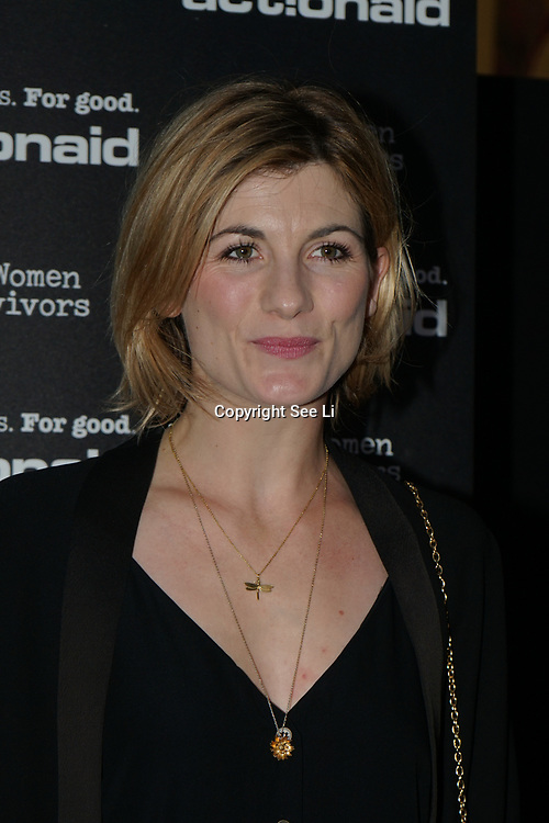 U Block 146 Brick Lane, London, UK. 10th October, 2017. Jodie Whittaker attend the ActionAid Survivors Runway - fashion show showcase the inner strength and dignity of survivors who have had the courage to speak out against gender-based violence