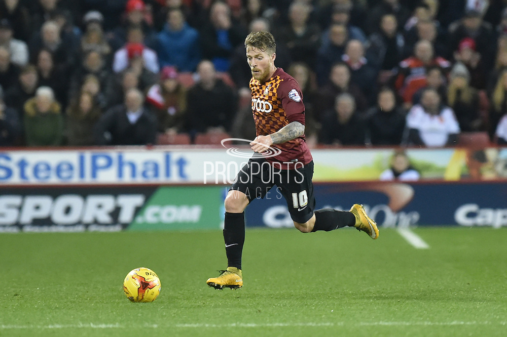 Bradford City forward Billy Clarke during the Sky Bet League 1 match between Sheffield Utd and Bradford City at Bramall Lane, Sheffield, England on 28 December 2015. Photo by Ian Lyall.