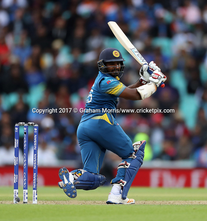 Kusal Mendis bats during the Champions Trophy One Day International between India and Sri Lanka at The Oval. 8 June 2017. Photo: Graham Morris/www.cricketpix.com / www.photosport.nz