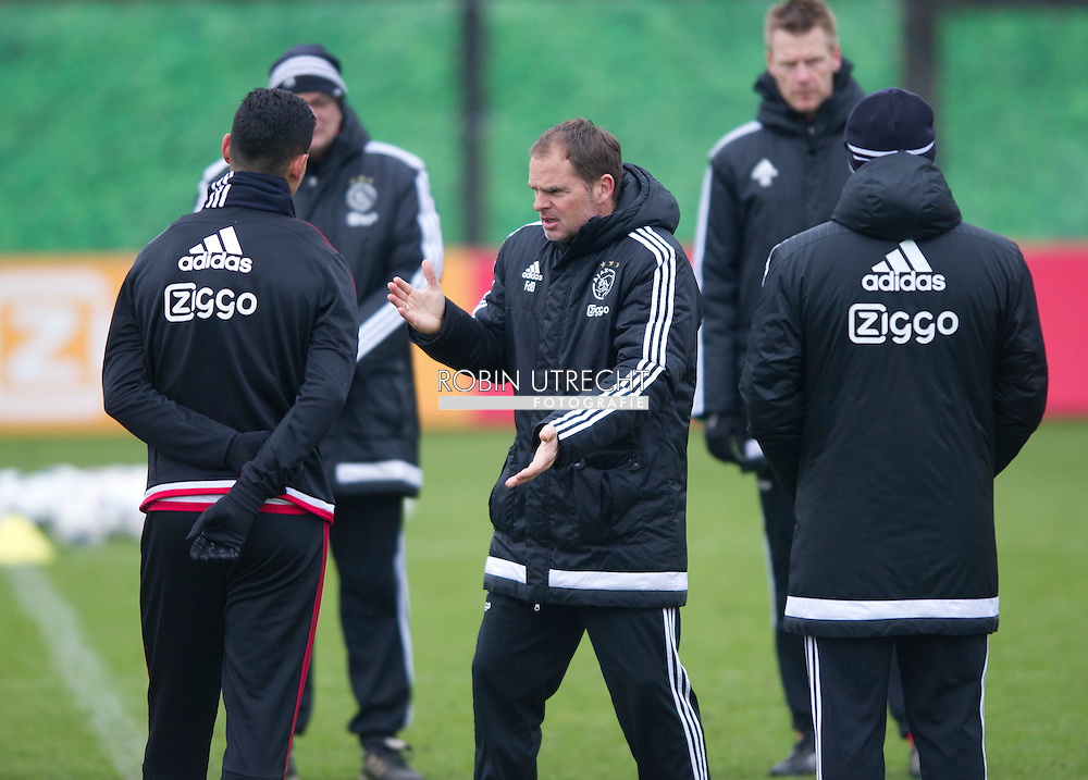 26-02-2016 VOETBAL: TRAINING AJAX: AMSTERDAM  Frank de Boer, hoofdcoach (Ajax) copyright robin utrecht