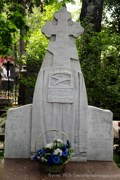 Europe, Russia, Moscow. Novodevichy Convent Cemetery