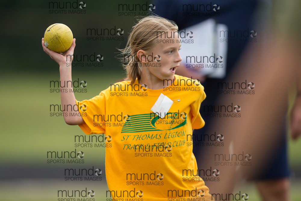 The St. Thomas Legion Rugrats meet at Parkside Collegiate in St.Thomas Ontario, Wednesday,  July 30, 2014.<br /> Mundo Sport Images/ Geoff Robins