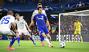 Cesc Fabregas plays a ball out wide during the Champions League group stage match between Chelsea and Dynamo Kiev at Stamford Bridge, London, England on 4 November 2015. Photo by Michael Hulf.