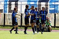 Siena 29-05-2005<br />Campionato di calcio serie A 2004-05 Siena Atalanta<br />Nella foto Esultanza dell' Atalanta dopo il gol del pareggio<br />Foto Snapshot / Graffiti