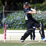 Haidee Tiffen batting during the match between England and New Zealand in the Super 6 stage of the ICC Women's World Cup Cricket tournament at Bankstown Oval, Sydney, Australia on March 14 2009, England won the match by 31 runs. Photo Tim Clayton