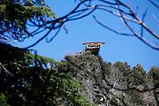 Monticchio Laghi (PZ) 12.03.2011 - Il degrado dei laghi di Monticchio (PZ). Uno dei piloni della ex funivia giace abbandonato nel bosco del Monte Vulture.
