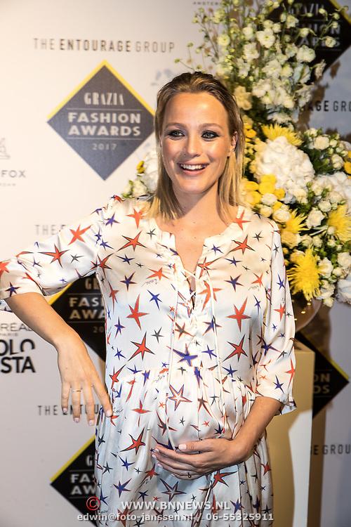 NLD/Amsterdam/20170829 - Grazia Fashion Awards 2017, zwangere Tess Milne