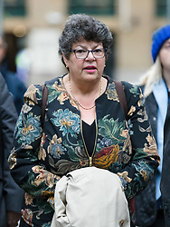 © Licensed to London News Pictures. 15/10/2018. London, UK.  MARRION LITTLE arrives at Southwark Crown Court in London for a trial in connection with charges of illegal election spending during the 2015 general election. South Thanet MP Craig Mackinlay, 51, campaign director Marion Little, 63, and election agent Nathan Gray, 29, have each been charged with offences under the Representation of the People Act 1983.  Photo credit: Vickie Flores/LNP