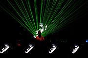 NICK WARREN DJING WITH GREEN LASERS