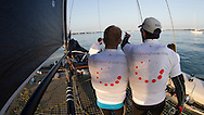 Cowes. ENGLAND. 21st June 2014. J P Morgan Round the Island Race. GC32 Spax Solutions with Pro Sport Zone.