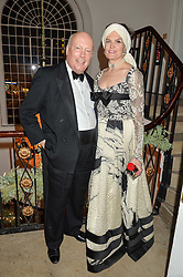 LORD & LADY FELLOWES at the Sugarplum Dinner in aid Sugarplum Children a charity supporting children with type 1 diabetes and raising funds for JDRF, the world's leading type 1 diabetes research charity held at One Marylebone, London on 18th November 2015.