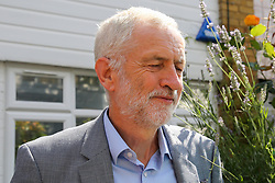 © Licensed to London News Pictures. 11/07/2019. London, UK. Leader of the Labour Party JEREMY CORBYN leaves his north London home this morning amid claims (by the BBC Panorama programme ) that senior Labour figures interfered in the process to investigate anti-semitism claims. Photo credit: Dinendra Haria/LNP