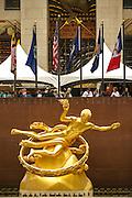 Prometheus statue at the Rockfeller Center in New York.